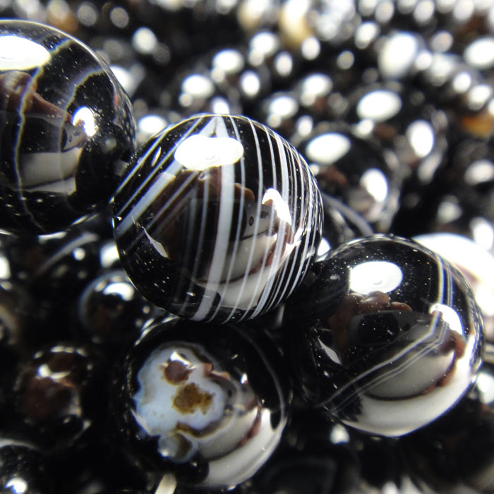Black Onyx Gemstone Beads