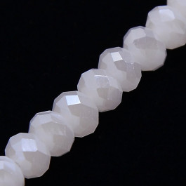 Sea Shell Electroplate 6x4mm Faceted Abacus Glass Beads