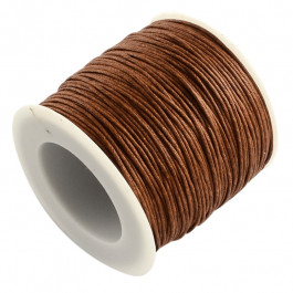 Brown Waxed Cotton Cord 1mm 74M Roll