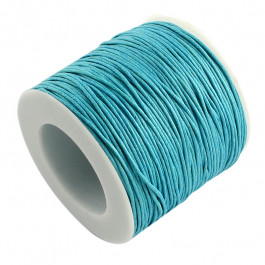 Light Blue Waxed Cotton Cord 1mm 74M Roll