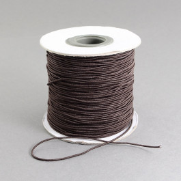Brown Elastic Cord 2mm Round 40m Roll