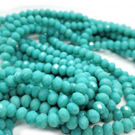 Turquoise 6x4mm Faceted Abacus Glass Beads