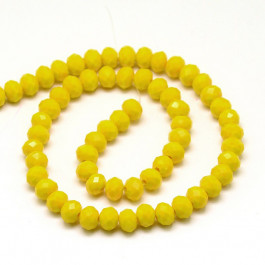 Gold 6x4mm Faceted Abacus Glass Beads