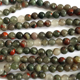 African Bloodstone 8mm Round Beads