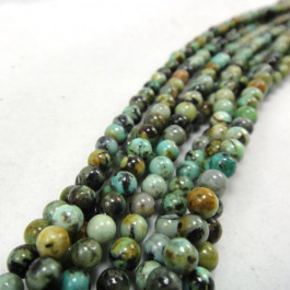 African Turquoise Round 4mm Beads