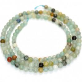 Multicolour Amazonite 3mm Round Beads