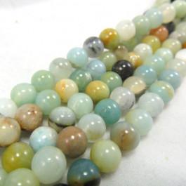 Multicolour Amazonite 6mm Round Beads