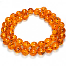 Imitation Amber 10mm Round Beads