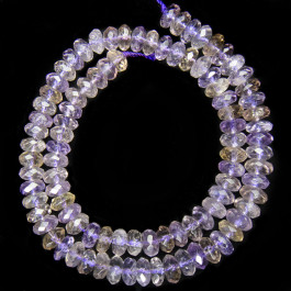 Ametrine 5x8mm Faceted Rondelle Beads