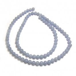 Angelite 4mm Round Beads