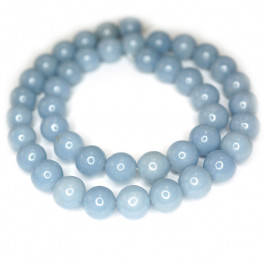 Angelite 10mm Round Beads