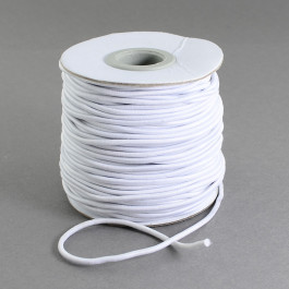 White Elastic Cord 2mm Round 40m Roll