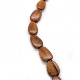 Bayong Flat Drop Wood Beads