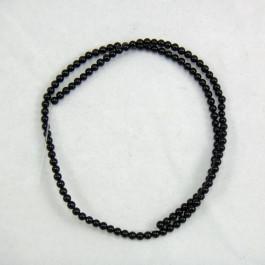 Black Onyx 3mm Round Beads