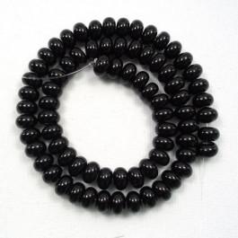 Black Onyx 4x6mm Rondelle Beads