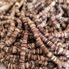1mm Brown Lip Shell Heishi Beads