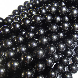 Black Tourmaline 10mm Round Beads