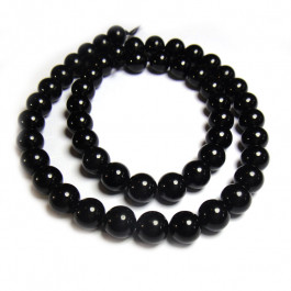 Black Tourmaline 8mm Round Beads