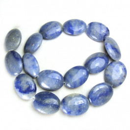 Blue Aventurine 18x25mm Puffy Ovals
