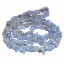 Blue Lace Agate Chip Beads