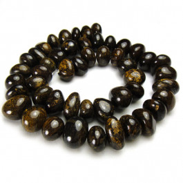 Bronzite 8x13mm Center Drilled Nugget Beads