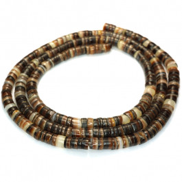 4-5mm Brown Lip Shell Heishi Beads