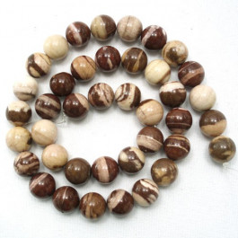 Brown Zebra Jasper 10mm Round Beads