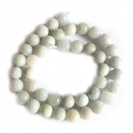 Natural Burmese Jade 10mm Round Beads