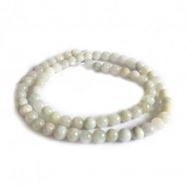 Natural Burmese Jade 6mm Round Beads