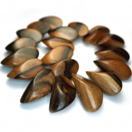 Kamagong (Tiger Ebony) Large Slice Wood Beads