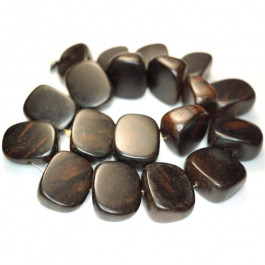 Kamagong (Tiger Ebony) Large Melon Slice Wood Beads