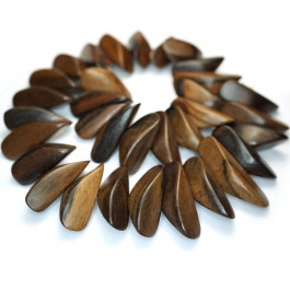 Kamagong (Tiger Ebony) Thin Slice Wood Beads