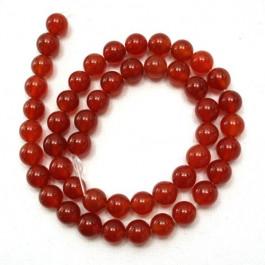 Carnelian 8mm Round Beads