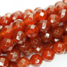 Carnelian Faceted 8mm Round