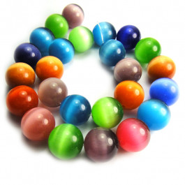 Cats Eye 16mm Round Beads