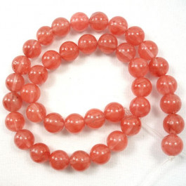 Cherry Quartz 10mm Round Beads