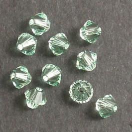 Swarovski® 4mm Chrysolite Bicone Xilion Cut Beads (Pack of 10)