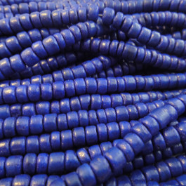 Coco Royal Blue Wood Beads