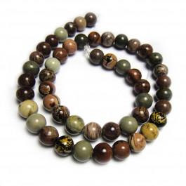 Coffee Bean Jasper 8mm Round Beads