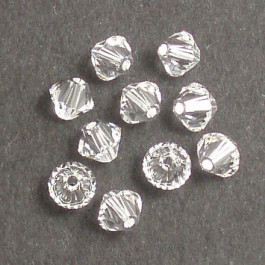 Swarovski® 4mm Crystal Bicone Xilion Cut Beads (Pack of 10)