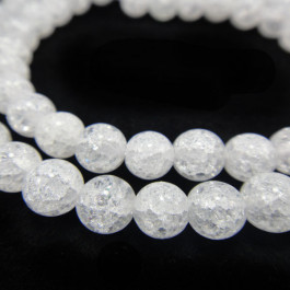 Cracked Glass 6mm Beads