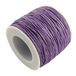 lavender Waxed Cotton Cord 1mm 74M Roll