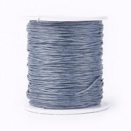 Dark Grey Waxed Cotton Cord 1mm 90M Roll