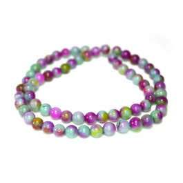 Dyed Jade Green/Purple Multicolour 6mm Round Beads