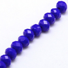Blue 6x4mm Faceted Abacus Glass Beads
