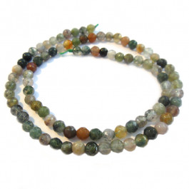 Fancy Jasper Faceted Round 4mm Beads