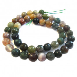 Fancy Jasper Faceted Round 8mm Beads