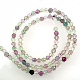 Fluorite 4mm Round Beads