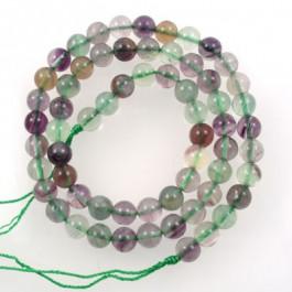 Fluorite 6mm Round Beads