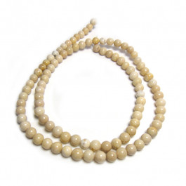 Fossil Stone 4mm Round Beads